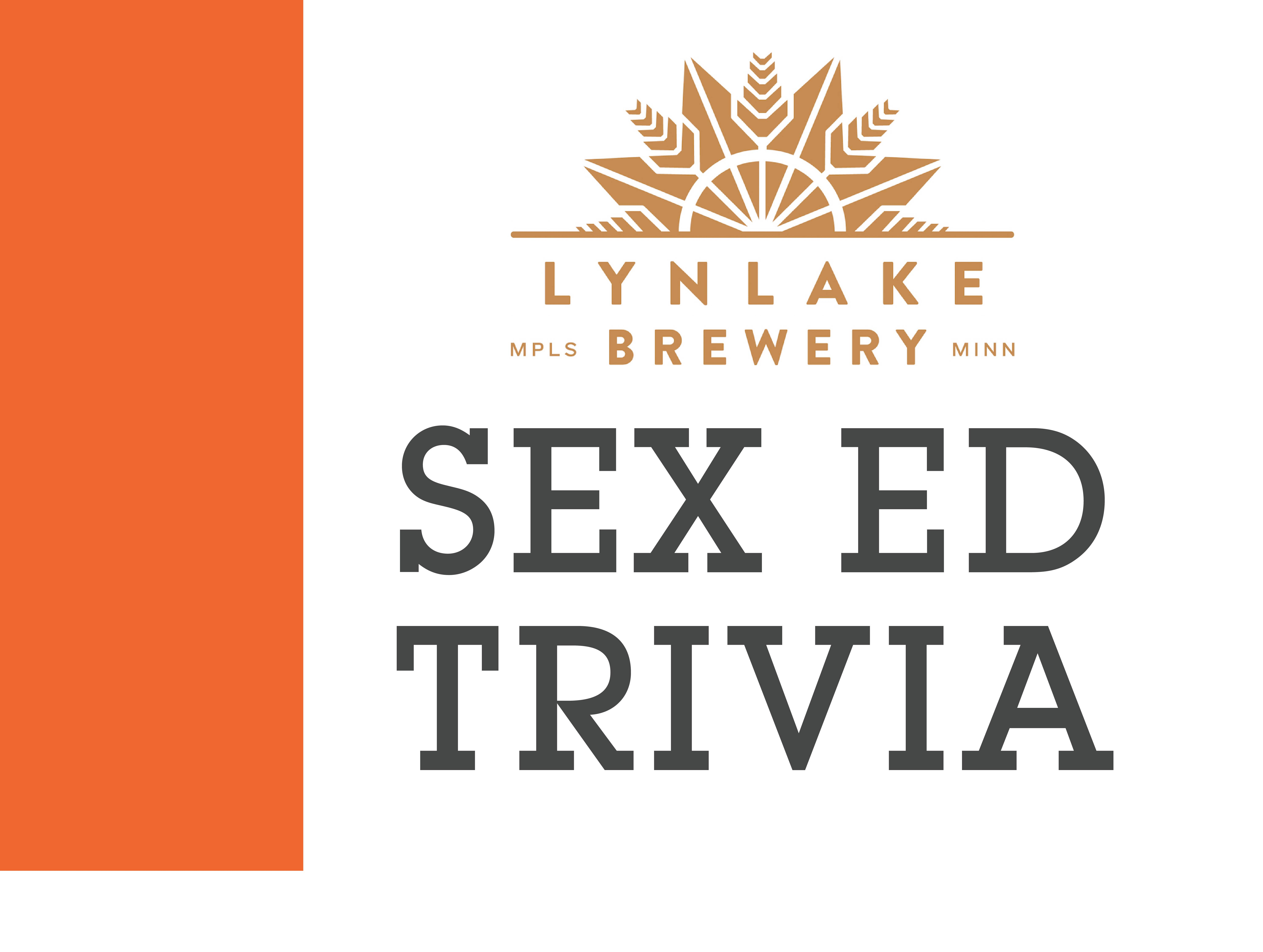 Sex Ed Trivia. Join us for a good cause!