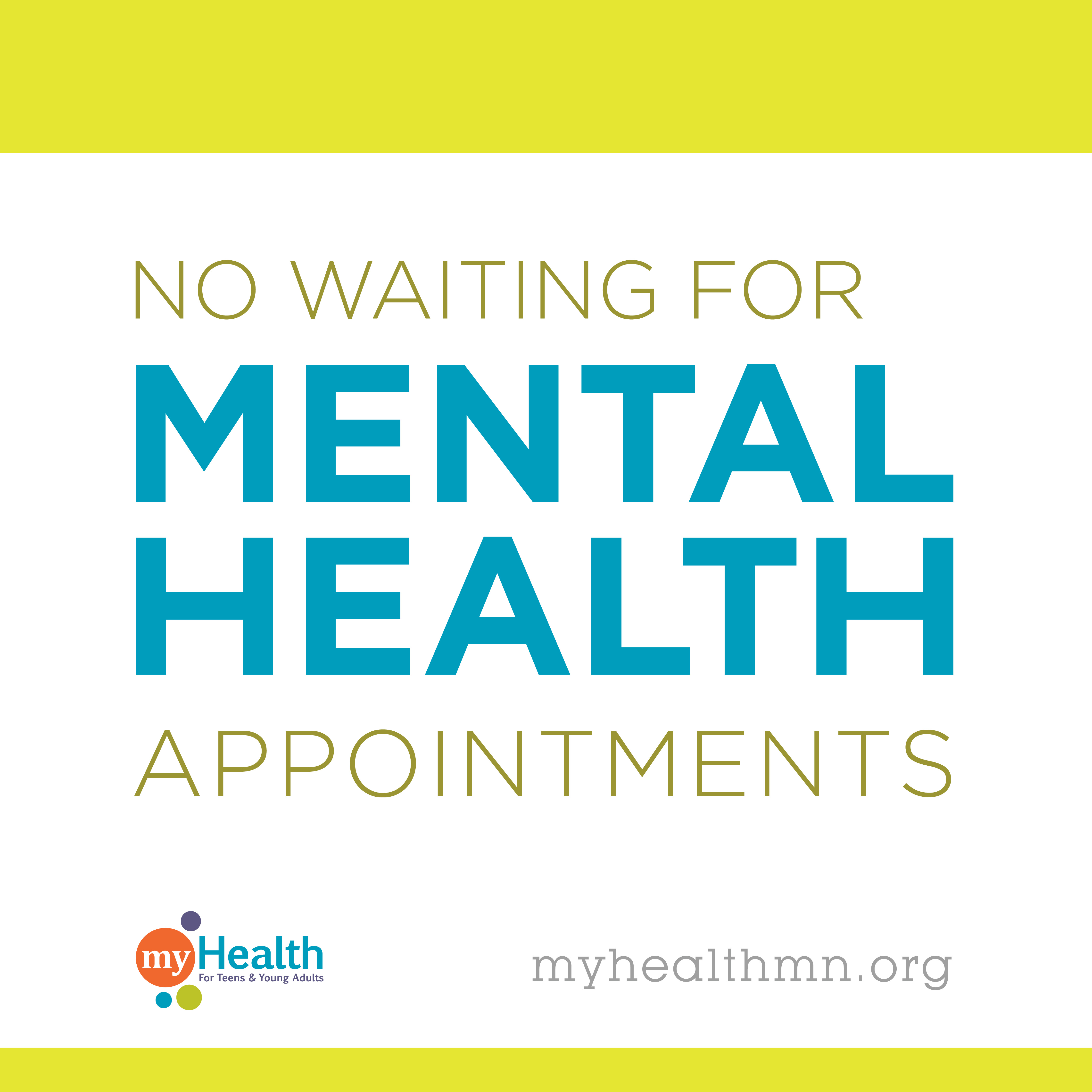 No waiting for metnal health appointments