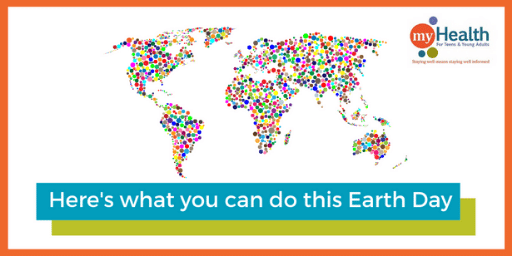 World Map Filled with dots of people supporting Earth Day 2020